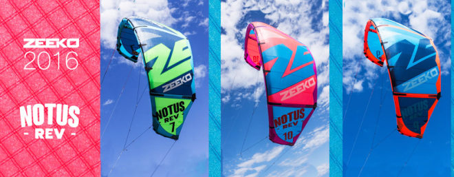 aile de kitesurf Notus Rev 2016 Zeeko
