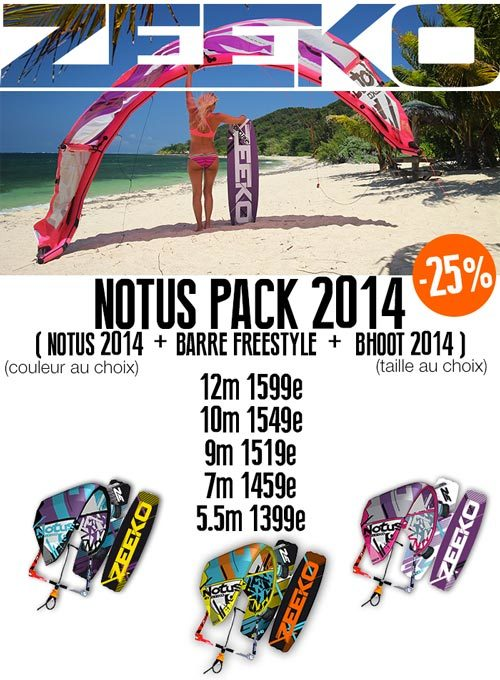 Pack Zeeko 2014 : Notus + Bhoot + Barre