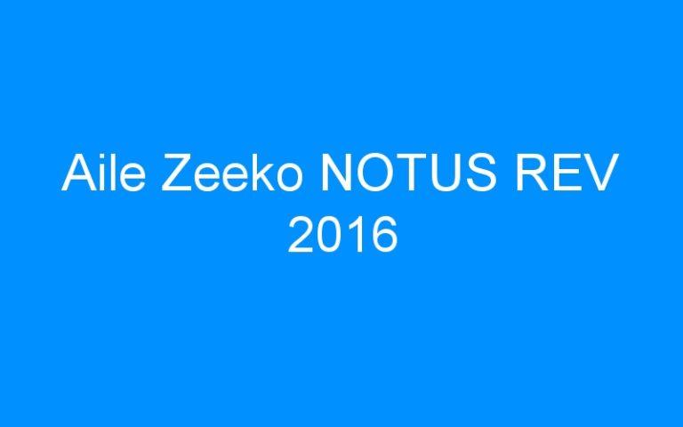 Aile Zeeko NOTUS REV 2016