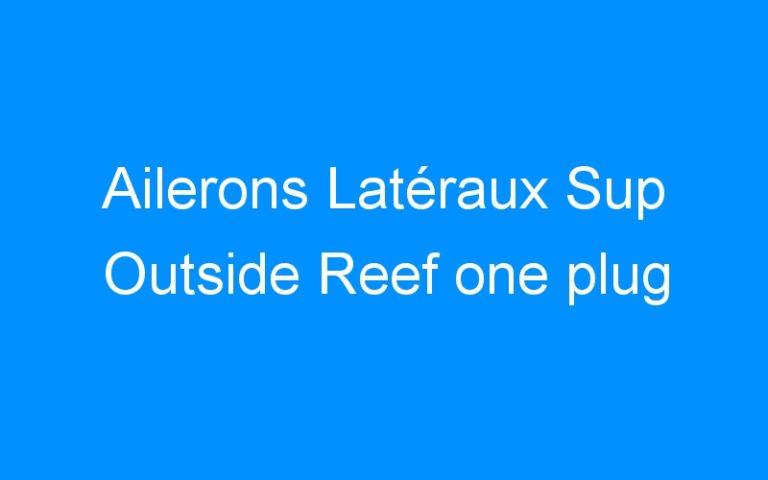 Ailerons Latéraux Sup Outside Reef one plug