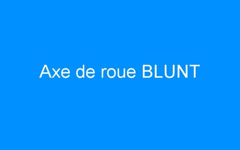 Axe de roue BLUNT
