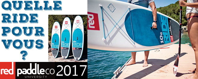 Ride Red paddle gonflable 2017 : La polyvalence