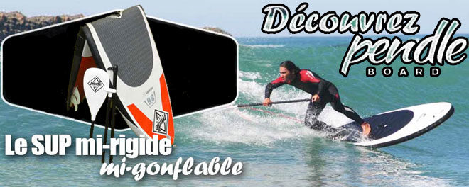 Le Stand Up Paddle semi rigide Pendleboard