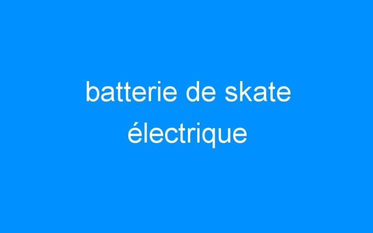 batterie de skate électrique