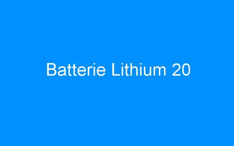 Batterie Lithium 20