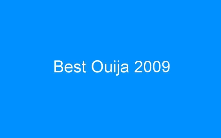 Best Ouija 2009