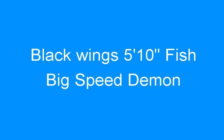Black wings 5'10» Fish Big Speed Demon