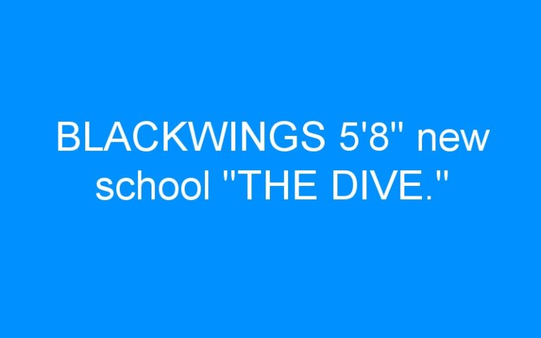 BLACKWINGS 5'8″ new school «THE DIVE.»