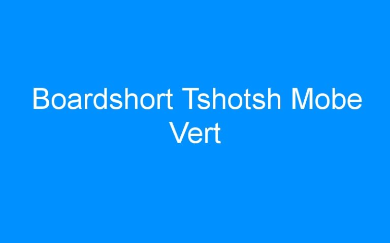Boardshort Tshotsh Mobe Vert