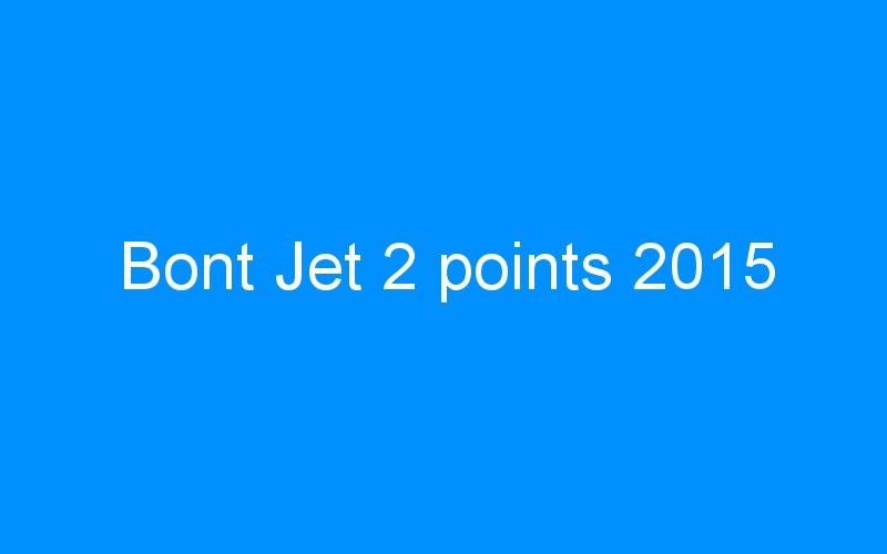 Bont Jet 2 points 2015