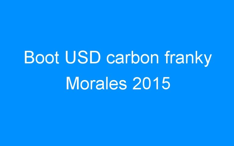Boot USD carbon franky Morales 2015