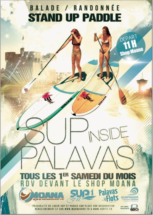 Tous les 1ers samedi du mois, Destock-Cycle.fr lance les SUP Inside Palavas !