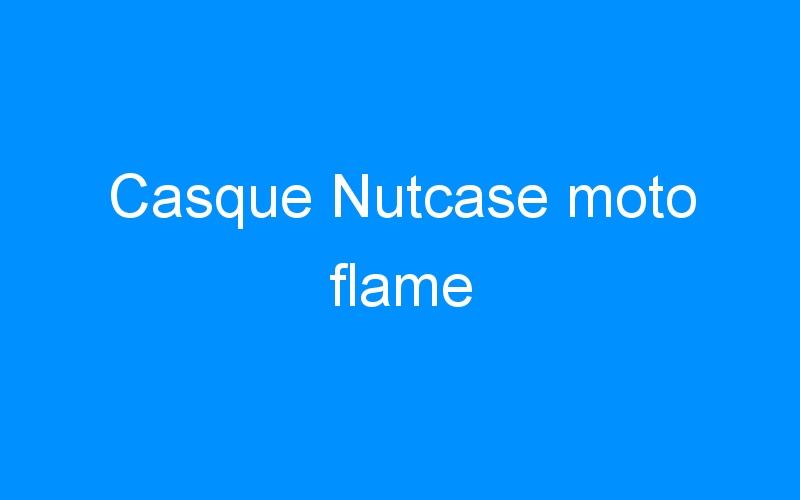 Casque Nutcase moto flame