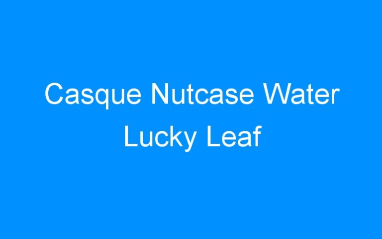 Casque Nutcase Water Lucky Leaf