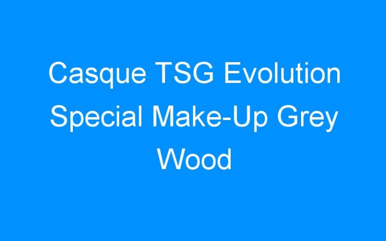Casque TSG Evolution Special Make-Up Grey Wood