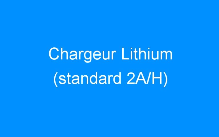Chargeur Lithium (standard 2A/H)