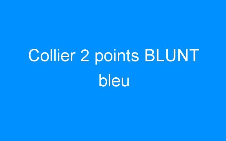 Collier 2 points BLUNT bleu