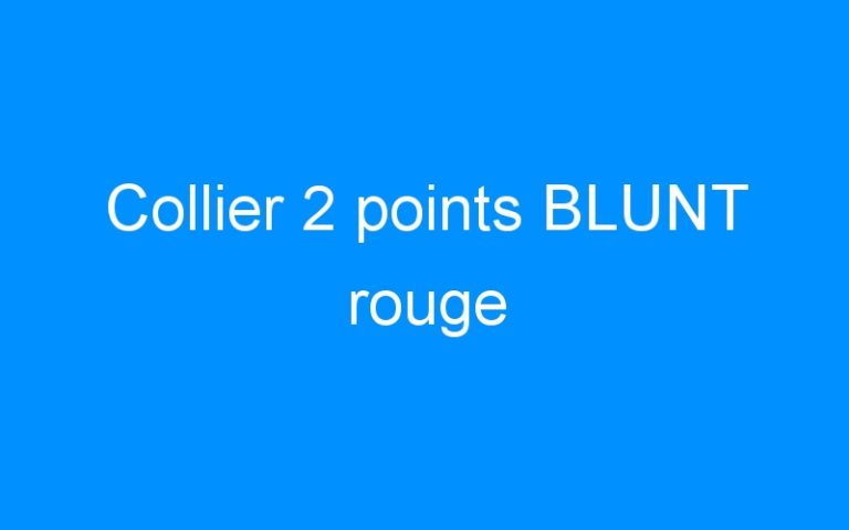 Collier 2 points BLUNT rouge