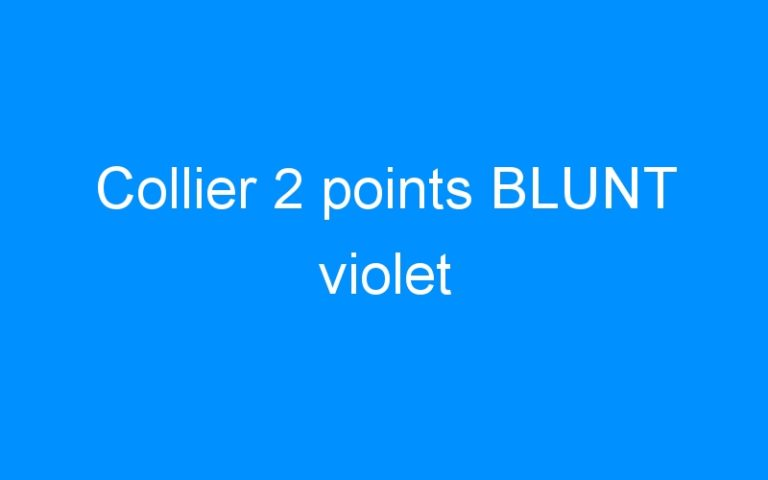 Collier 2 points BLUNT violet