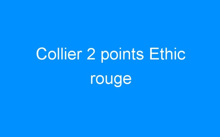 Collier 2 points Ethic rouge