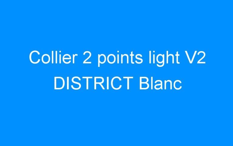 Collier 2 points light V2 DISTRICT Blanc