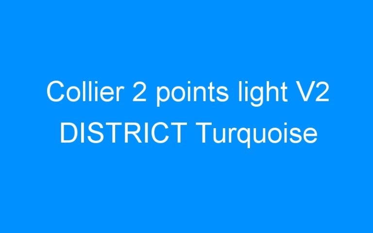 Collier 2 points light V2 DISTRICT Turquoise