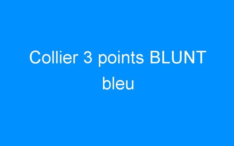 Collier 3 points BLUNT bleu