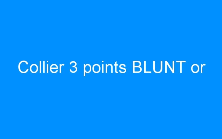Collier 3 points BLUNT or