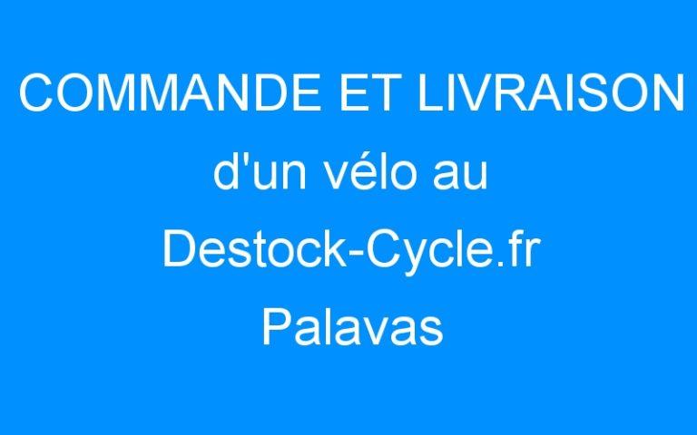 COMMANDE ET LIVRAISON d'un vélo au Destock-Cycle.fr Palavas