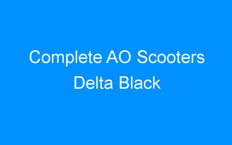 Complete AO Scooters Delta Black