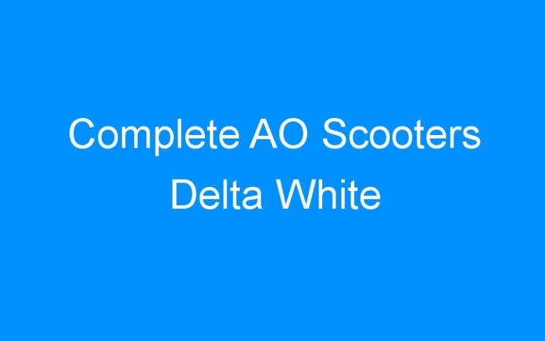 Complete AO Scooters Delta White