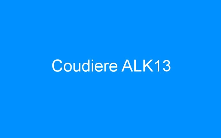 Coudiere ALK13