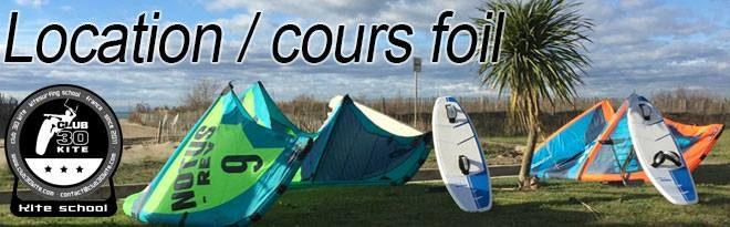 Cours et location de foil kitesurf ou kitefoil