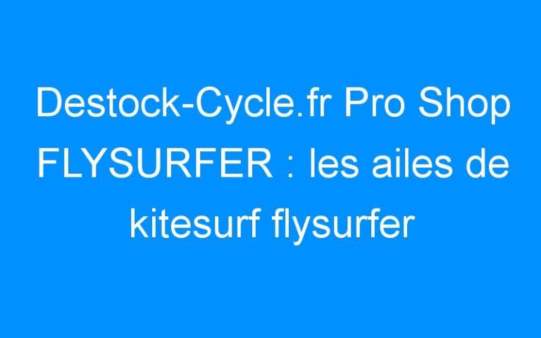Destock-Cycle.fr Pro Shop FLYSURFER : les ailes de kitesurf flysurfer 2009