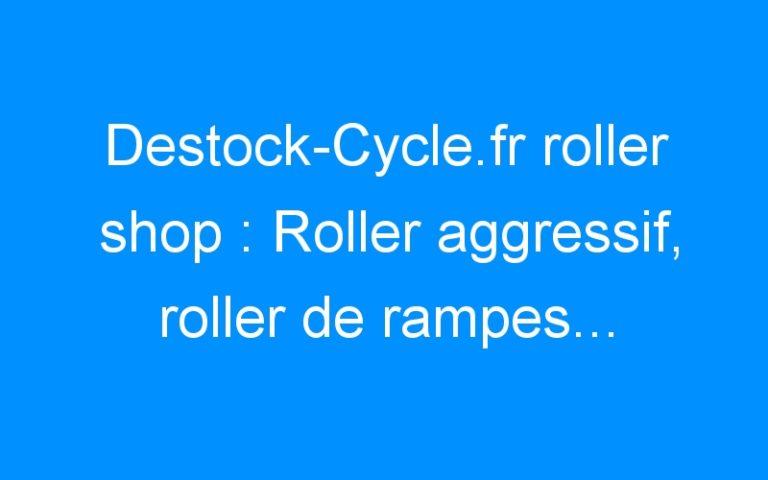 Destock-Cycle.fr roller shop : Roller aggressif, roller de rampes… faut que ca envois du gros!