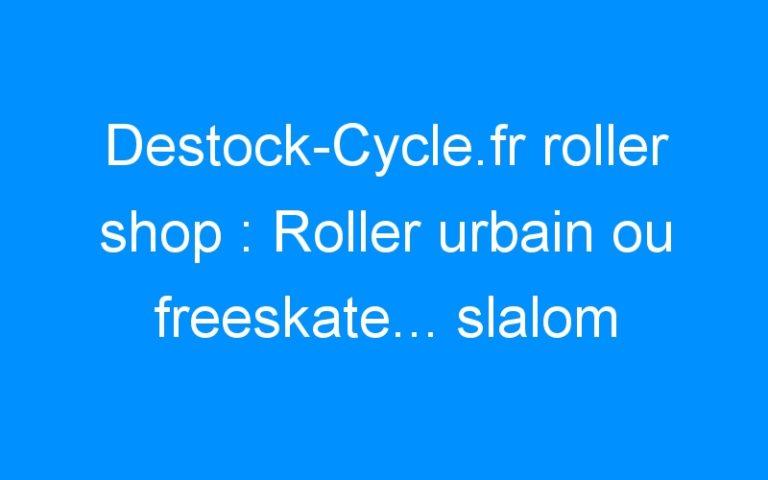 Destock-Cycle.fr roller shop : Roller urbain ou freeskate… slalom