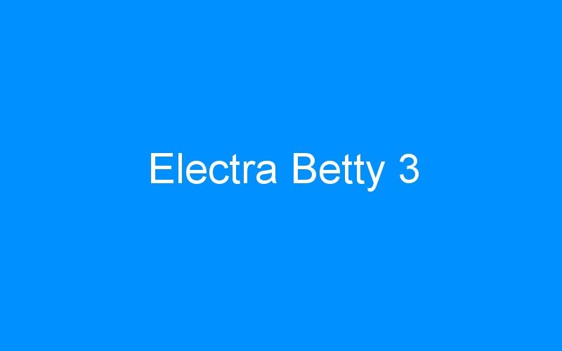 Electra Betty 3