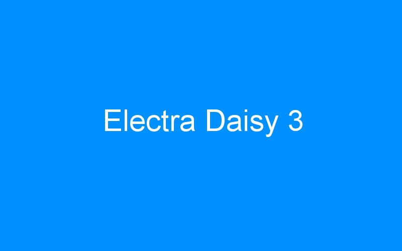 Electra Daisy 3