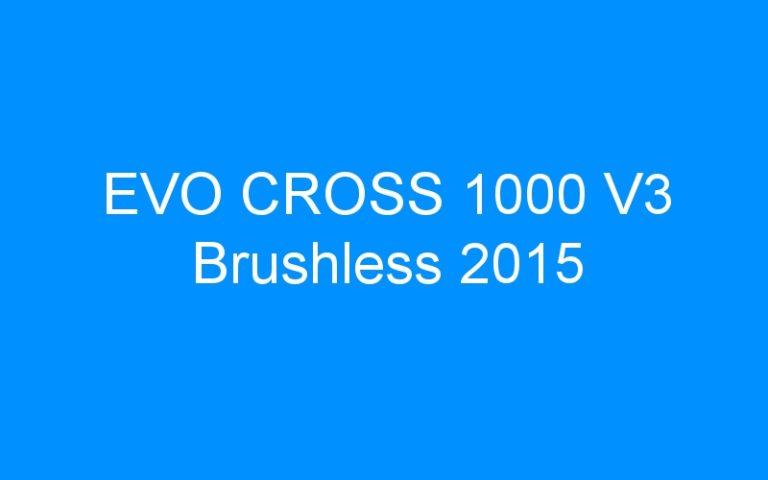 EVO CROSS 1000 V3 Brushless 2015