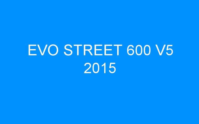 EVO STREET 600 V5 2015
