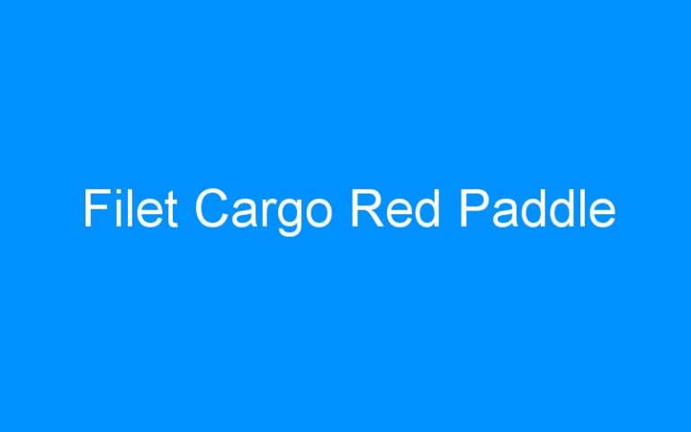 Filet Cargo Red Paddle