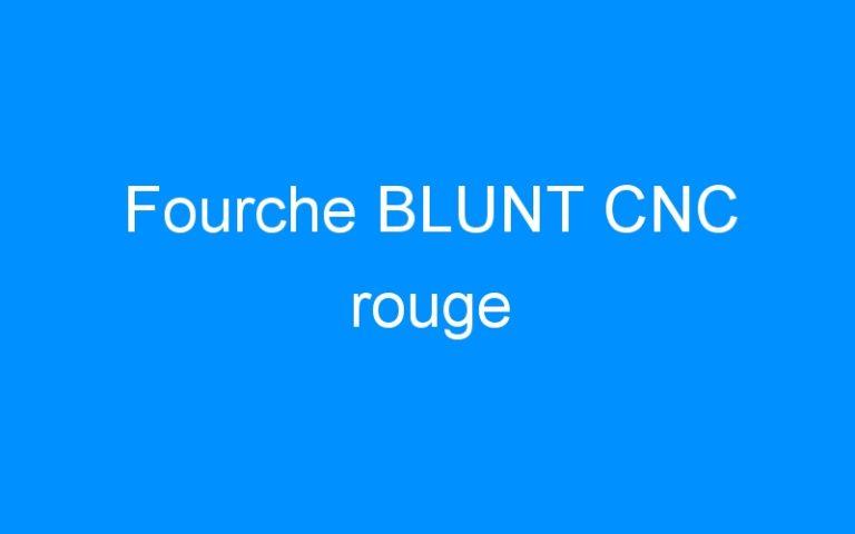 Fourche BLUNT CNC rouge