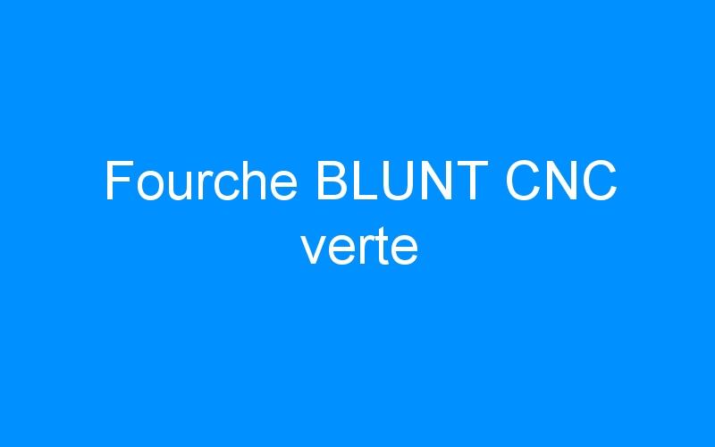 Fourche BLUNT CNC verte