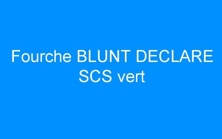 Fourche BLUNT DECLARE SCS vert