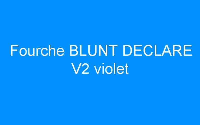 Fourche BLUNT DECLARE V2 violet