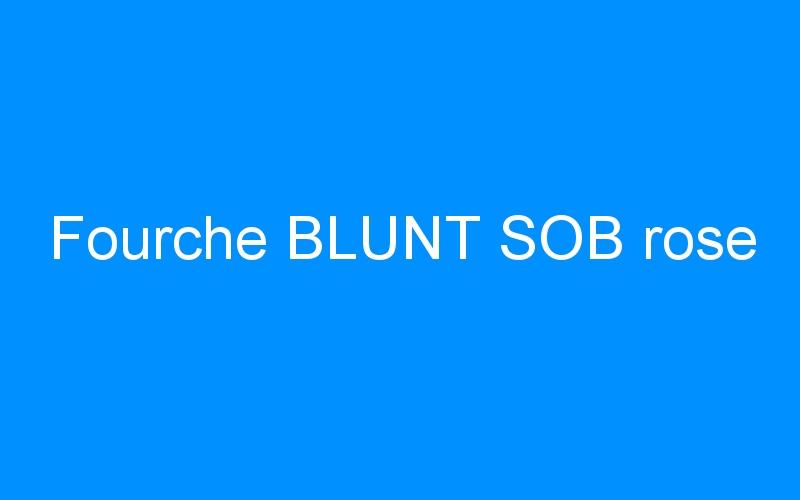 Fourche BLUNT SOB rose