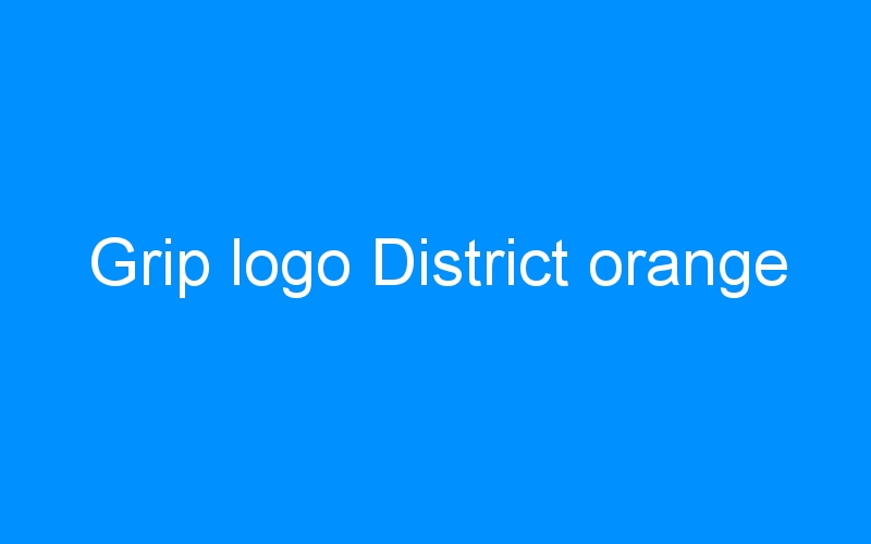 Grip logo District orange