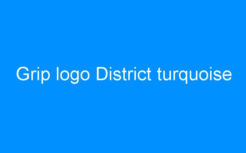Grip logo District turquoise