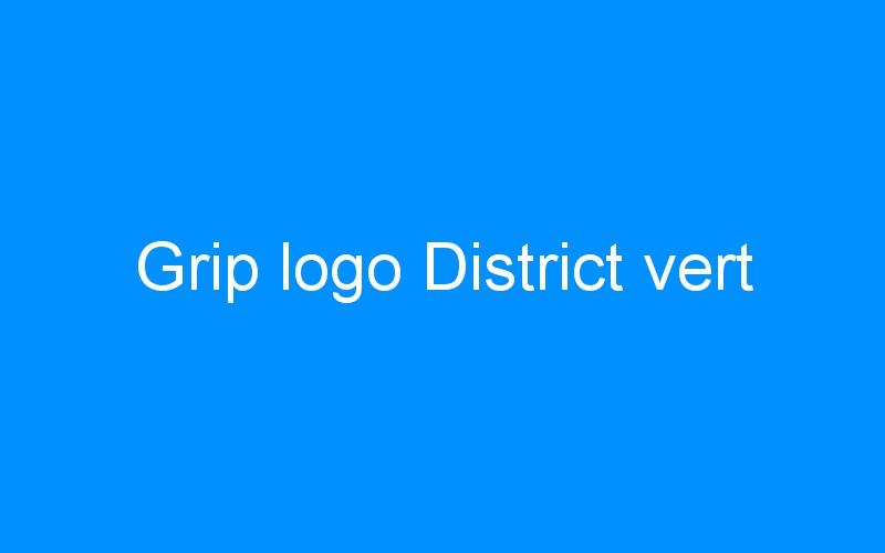 Grip logo District vert