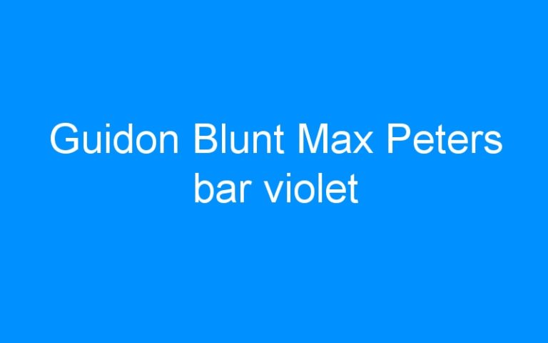 Guidon Blunt Max Peters bar violet